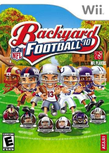 backyard football 39 10 nintendo wii game