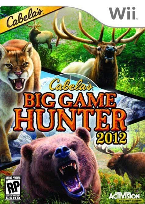 Wii Games List 2012 : Cabela s big game hunter nintendo wii