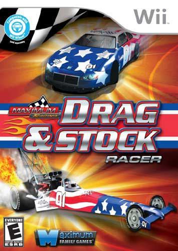 maxium racing drag stock racer nintendo wii game. Black Bedroom Furniture Sets. Home Design Ideas