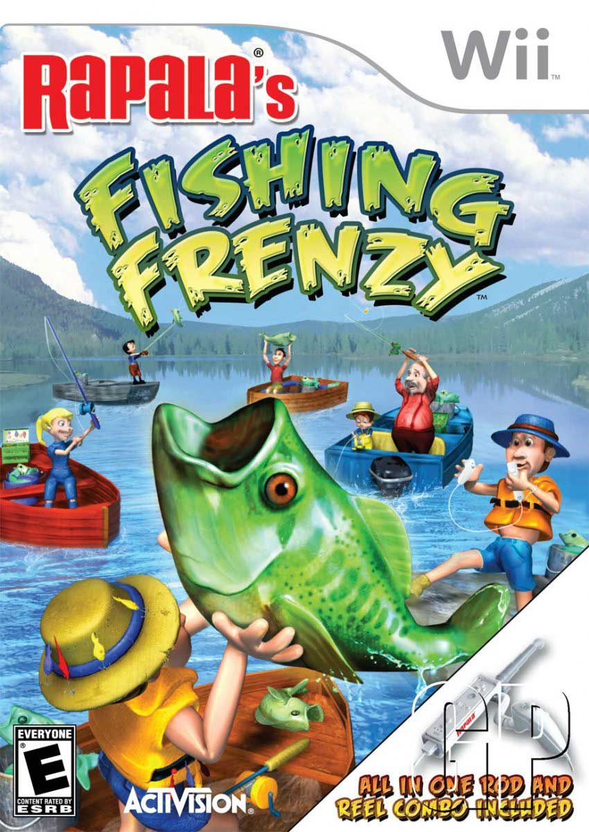 rapala fishing frenzy nintendo wii game