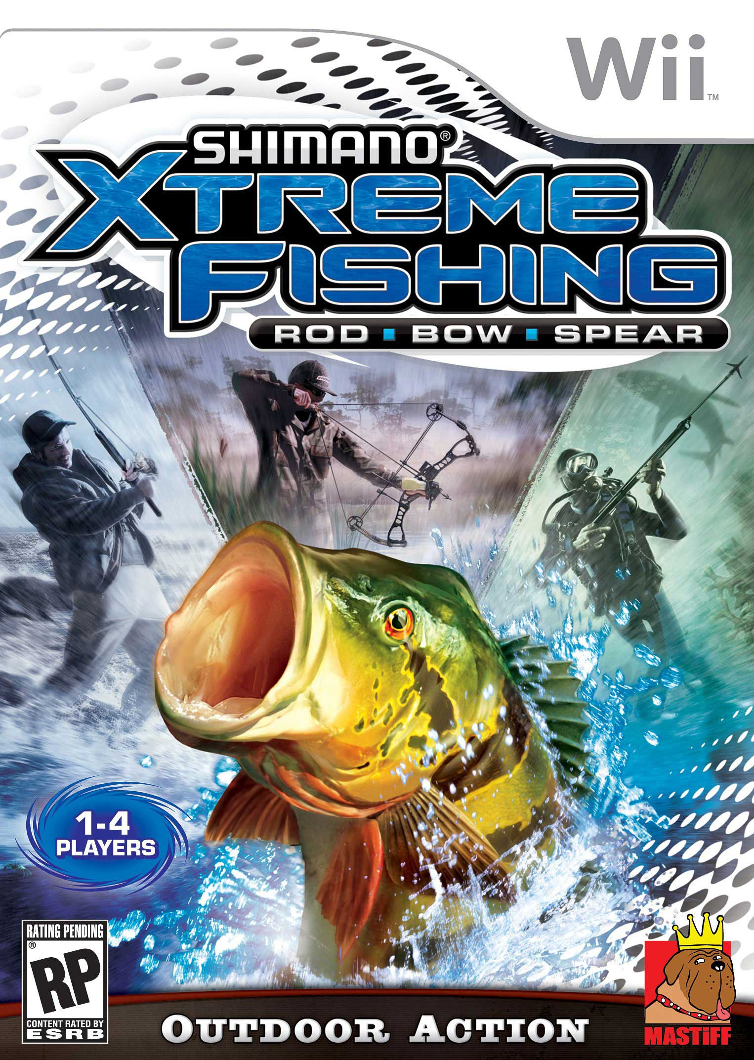 Shimano xtreme fishing nintendo wii game for Wii fishing games