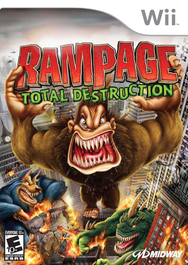 rampage total destruction nintendo wii game