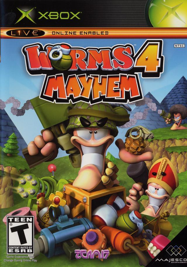 worms 4 mayhem xbox