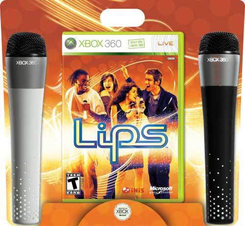 A Rated Games For Xbox 360 : Lips xbox game bundle with microphones