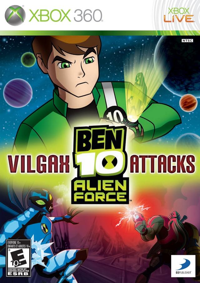 Ben 10 Alien Force Vilgax Attacks Xbox 360 Game