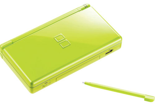 nintendo ds lite lime green system discounted. Black Bedroom Furniture Sets. Home Design Ideas
