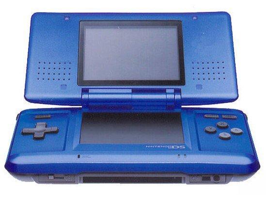 original nintendo ds cobalt blue system discounted