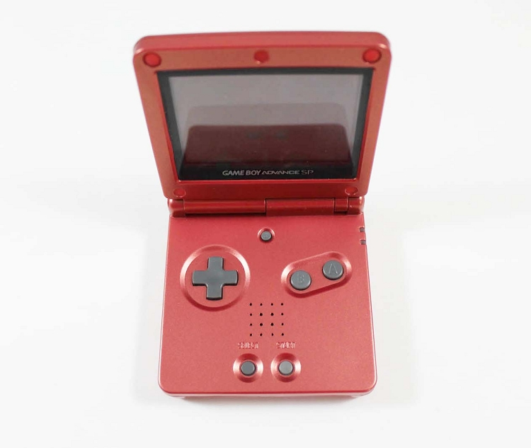 Flame Red Game Boy Advance Sp System Used