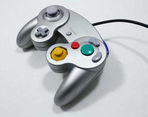 Used Original Nintendo Gamecube Wii Silver Controller