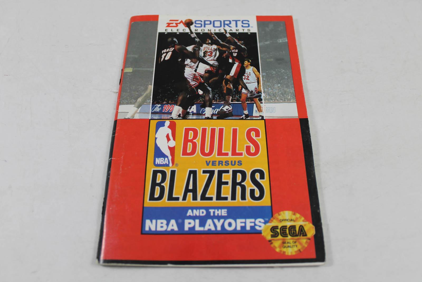 Manual - Bulls Vs Blazers The Nba Playoffs - Sega Genesis