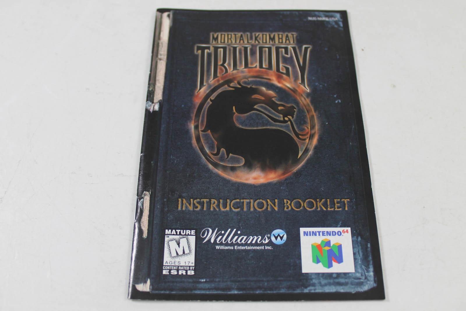 Manual - Mortal Kombat Trilogy - Nintendo N64