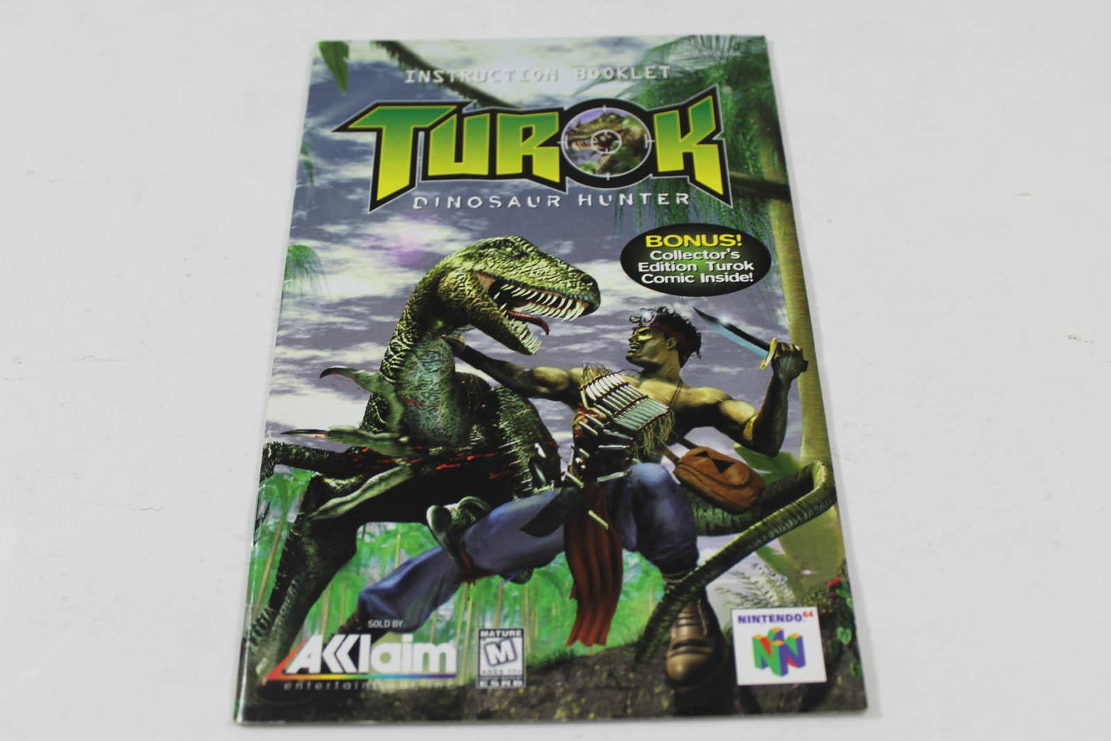 manual turok dinosaur hunter nintendo n64