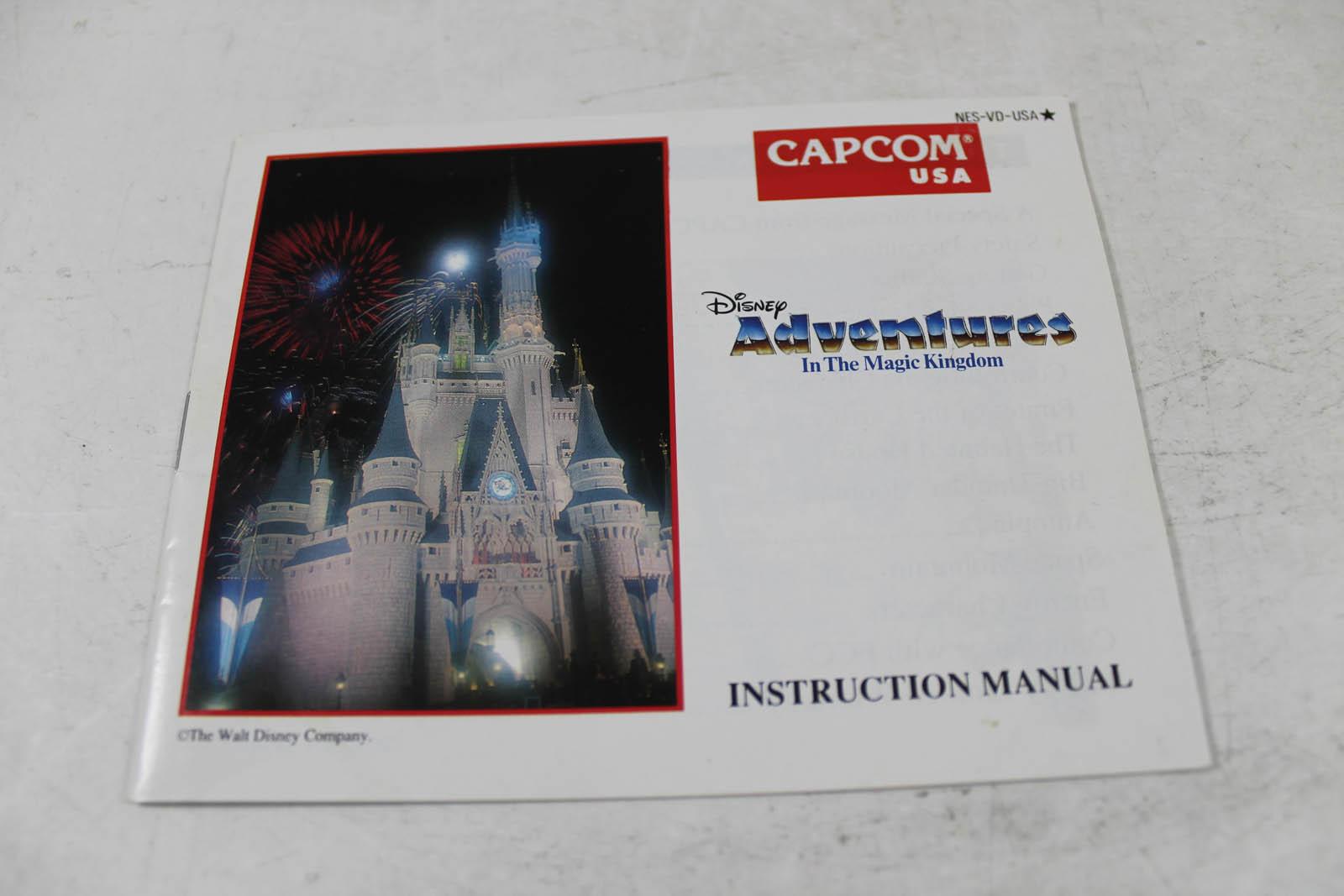 Manual Disney Adventures In Magic Kingdom Nes Nintendo