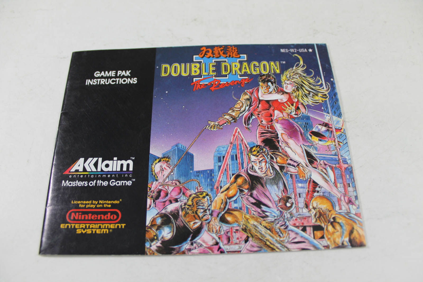 Manual Double Dragon Ii 2 The Revenge Nes Nintendo