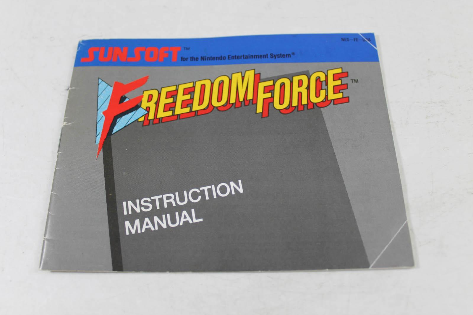 ... Array - manual freedom force nes nintendo rh lukiegames ... f147f86d17f4