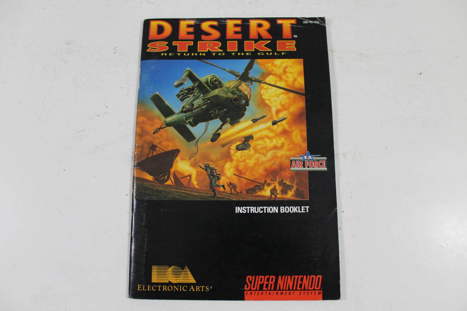 Manual Desert Strike Return To The Gulf Snes Super Nintendo