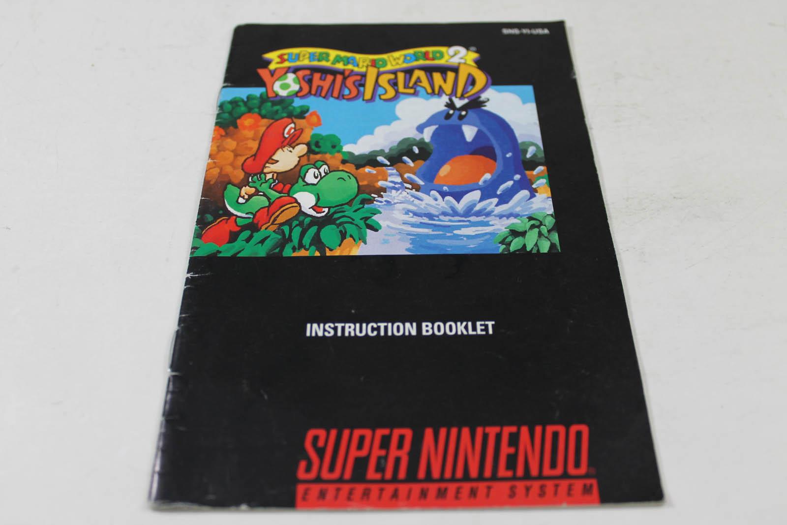 Manual Super Mario World 2 Yoshi S Island Snes Nintendo