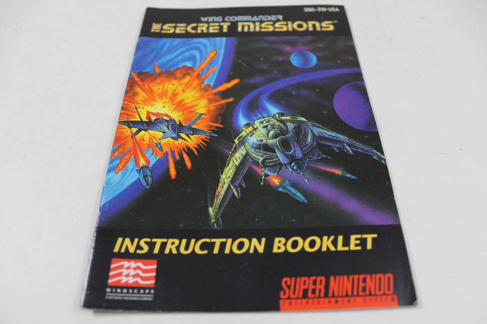 Manual Wing Commander 2 Secret Missions Super Nintendo
