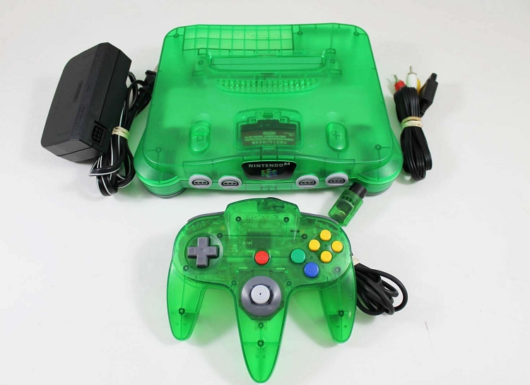 Jungle Green Nintendo 64 System Console used