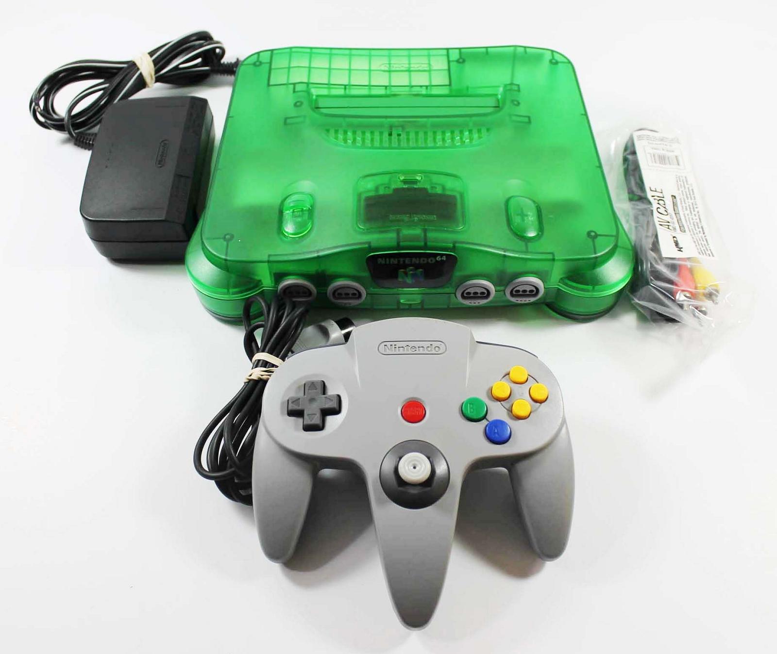 Jungle Green Nintendo 64 System Console refurbished