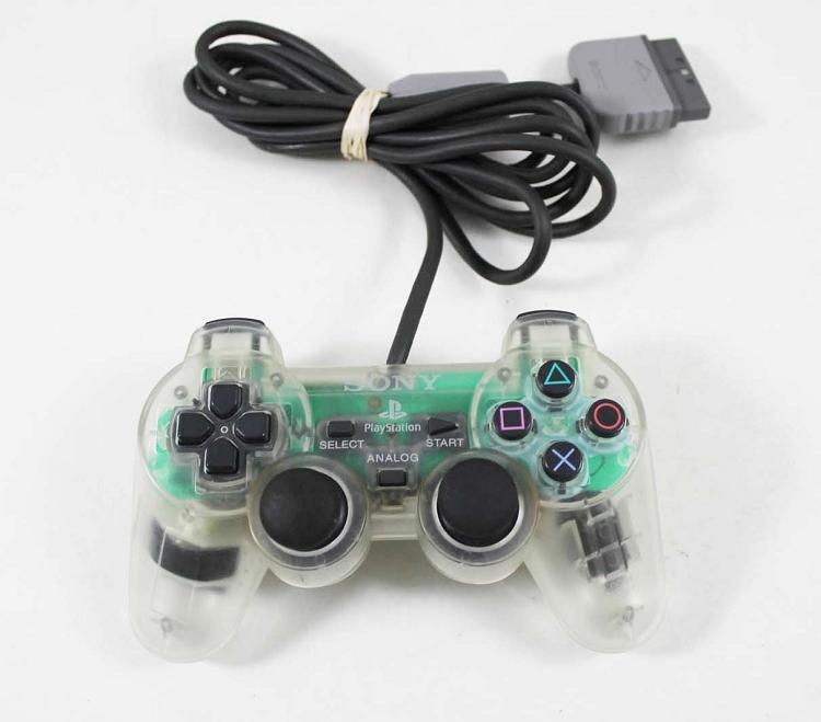 PS1 Original Dual Shock CLEAR WHITE Controller