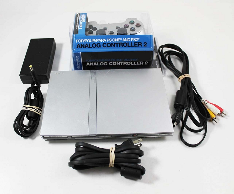 Silver Sony Playstation 2 System