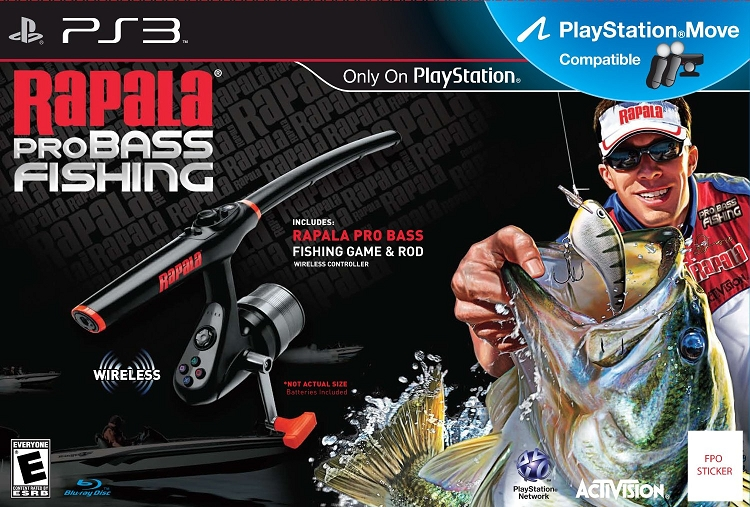 Rapala pro bass fishing 2010 with fishing rod bundle for Ps3 fishing games