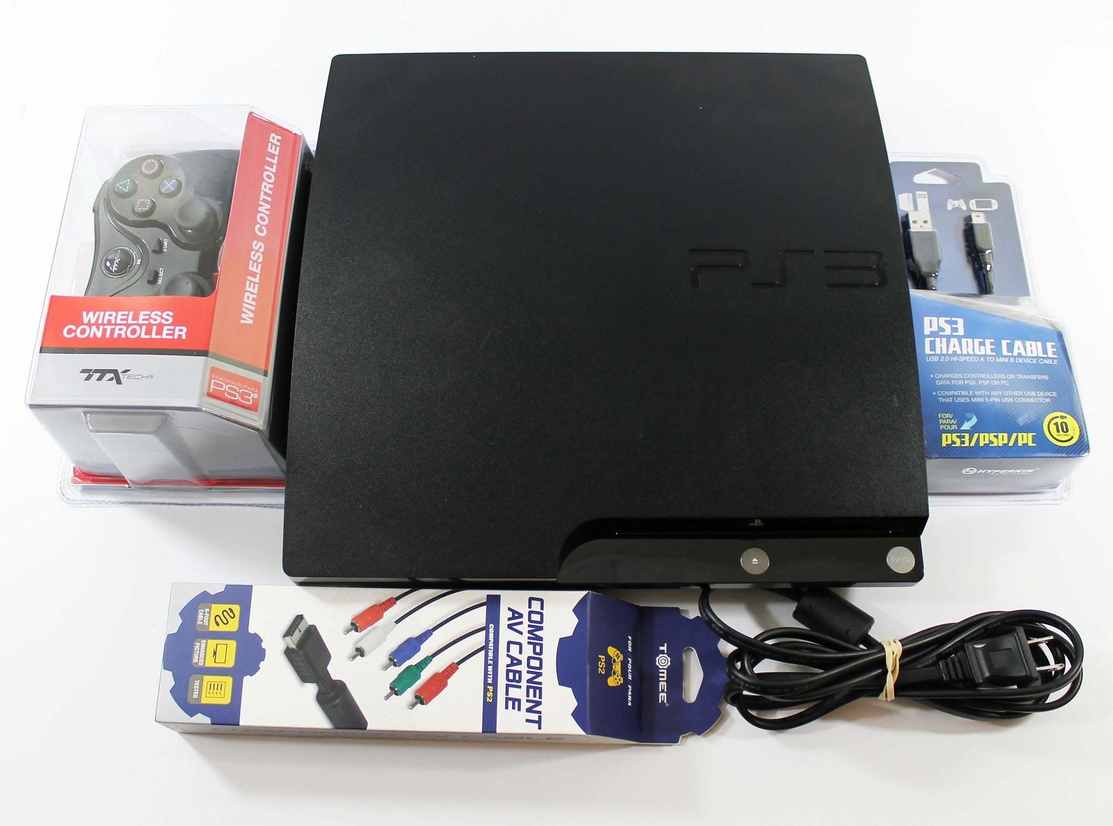 Sony Playstation 3 Console 320gb System Model Cech 3001b Super Slim 320 Gb