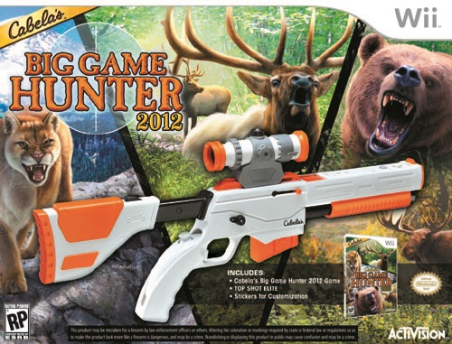 Wii Games List 2012 : Cabela s big game hunter with gun nintendo wii