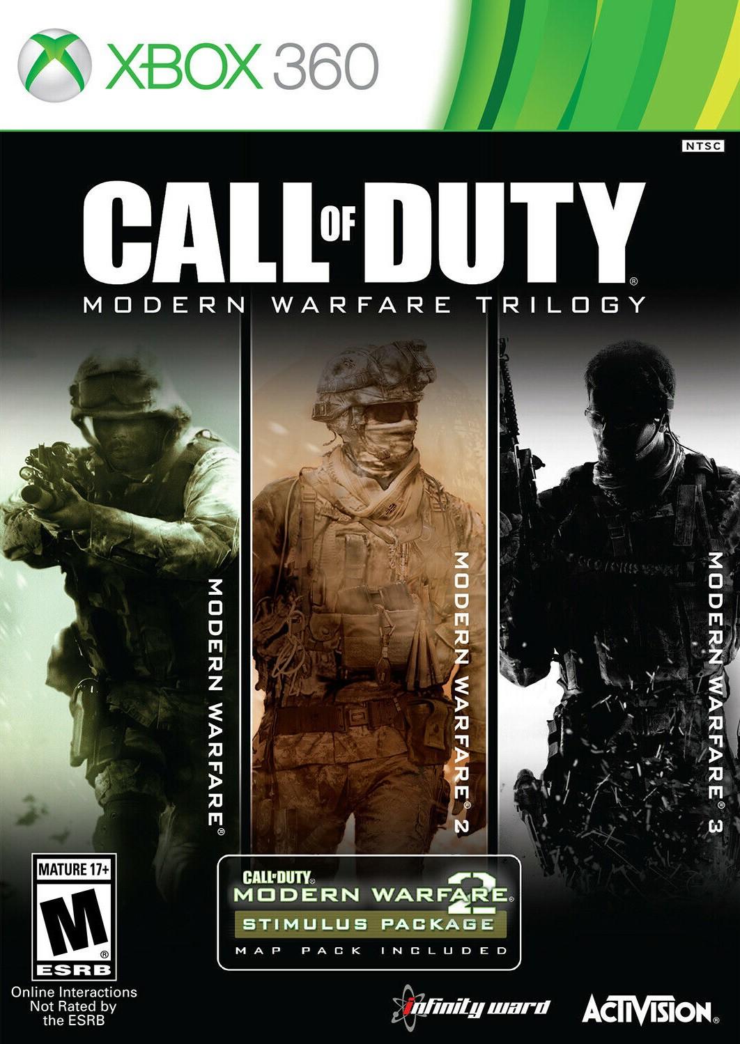 Call Of Duty Modern Warfare Trilogy Xbox 360 Game