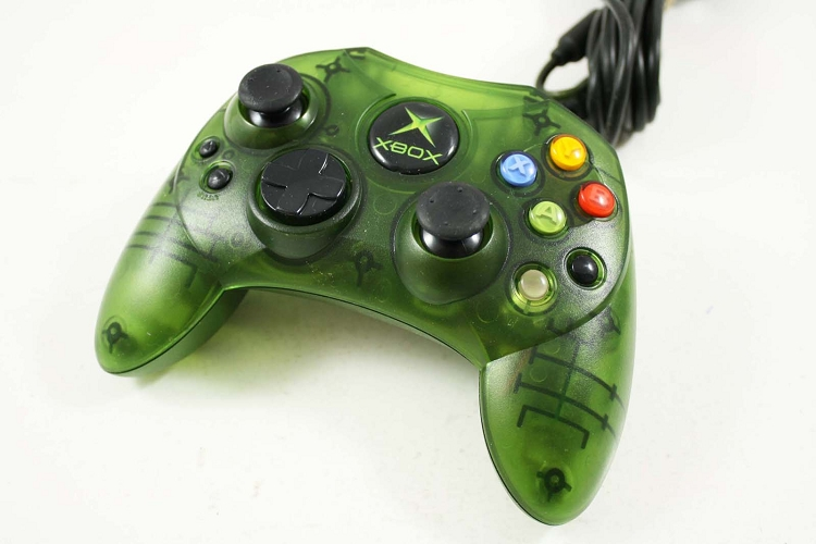 Old Xbox Controller Games : Original microsoft xbox green controller used